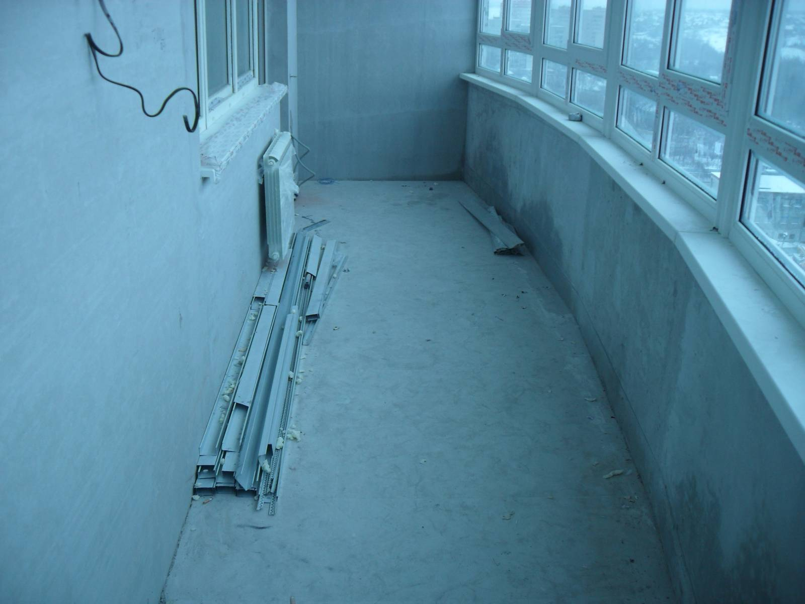 Пол на балконе,сухая стяжка..