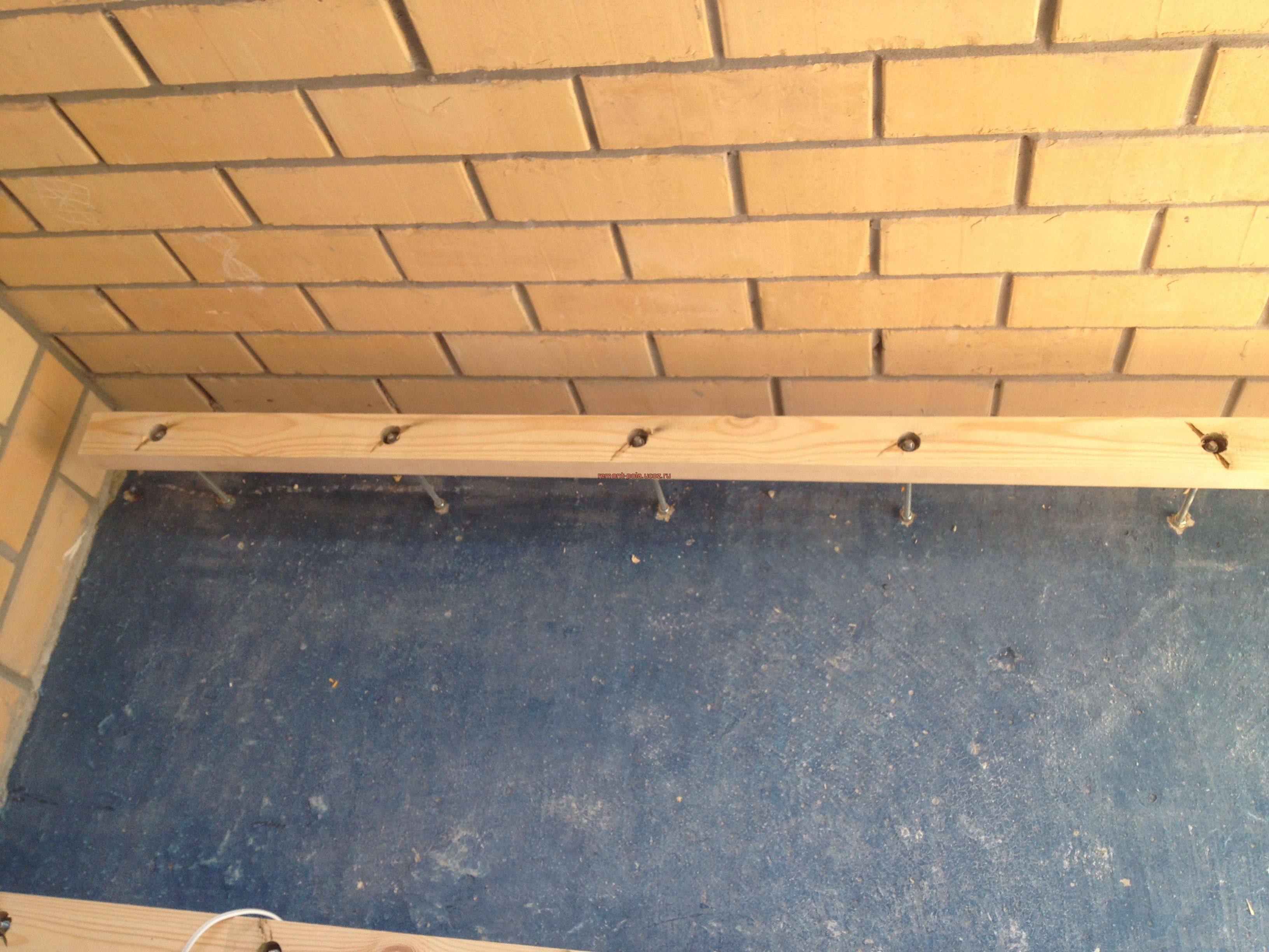 Благоустроим балкон - пол на балконе !--if(ремонт полов)--- .